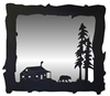 Big Horizontal Mirror- Bear and Cabin Design