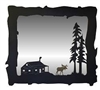 Big Horizontal Mirror- Moose and Cabin Design