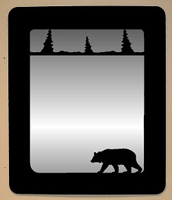 Smooth Outside Mirror- Bear Design