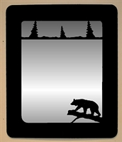 Smooth Outside Mirror- Bear on a Log Design