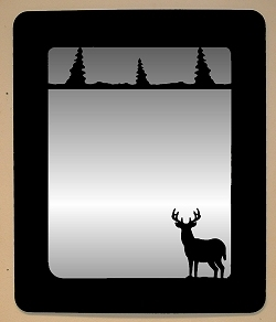 Smooth Outside Mirror- Deer Design
