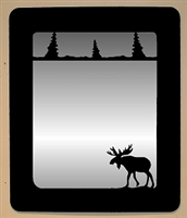 Smooth Outside Mirror- Moose Design