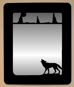 Smooth Outside Mirror- Wolf Design