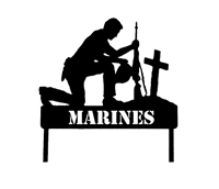 Military Soldier Marker Stake- Marines