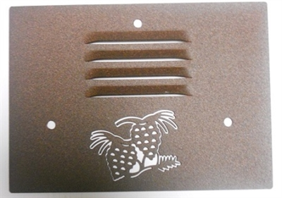 Outdoor Step Light Cover- Pinecone Design