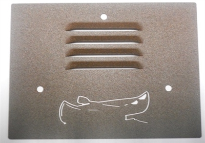 Outdoor Step Light Cover- Canoe Design
