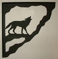 Porch Bracket - Wolf Design