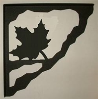 Porch Bracket - Maple Leaf Design