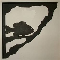 Porch Bracket - Pan Fish Design