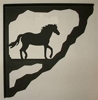 Porch Bracket - Horse Design