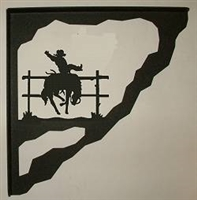 Porch Bracket - Bucking Bronco Design