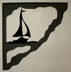 Porch Bracket - Sailboat Design