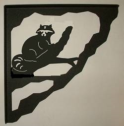 Porch Bracket - Raccoon Design