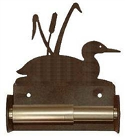 TP Holder with Spring Type Bar - Loon with Cattails  Designs