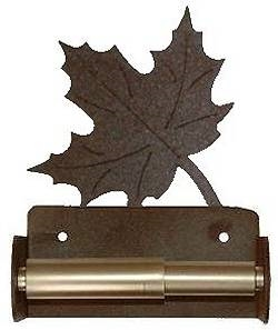 Spring Bar Toilet Paper Holder- Maple Leaf