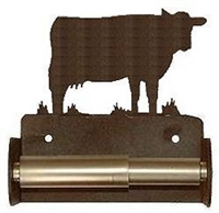 TP Holder with Spring Type Bar - Cow  Designs