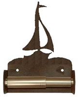 TP Holder with Spring Type Bar - Sailboat Designs