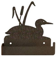 One Piece Toilet Paper Holder - Loon and Cattails Design