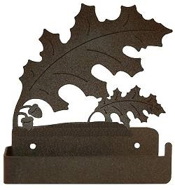 One Piece Toilet Paper Holder - Oak Leaf Design