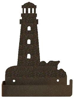 One Piece Toilet Paper Holder - Lighthouse Design