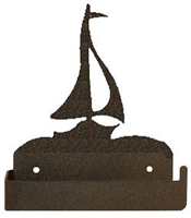 One Piece Toilet Paper Holder - Sailboat Design