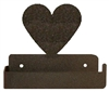 One Piece Toilet Paper Holder - Heart Design