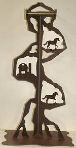 Toilet Paper Stand - Horse and Barn Design
