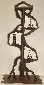 Toilet Paper Stand - Lighthouse/Sailboat Design