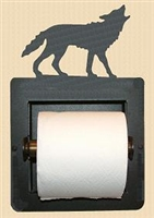 Recessed Toilet Paper Holder- Wolf Design