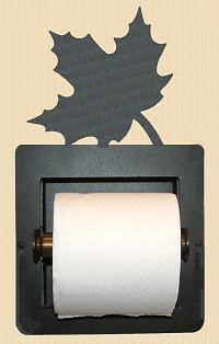 Recessed Toilet Paper Holder- Maple Leaf Design