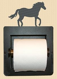Recessed Toilet Paper Holder- Horse Design