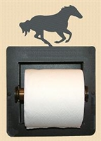 Galloping Horse Design Recessed Toilet Paper Holder