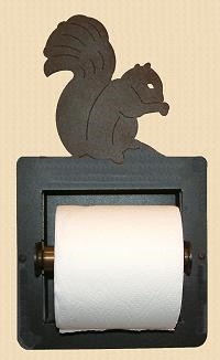 Recessed Toilet Paper Holder- Squirrel Design