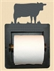 Recessed Toilet Paper Holder- Cow Design