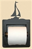 Recessed Toilet Paper Holder- Sailboat Design
