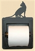 Recessed Toilet Paper Holder- House Cat Design