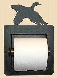 Recessed Toilet Paper Holder- Flying Duck Design