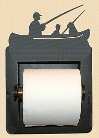 Recessed Toilet Paper Holder- Fisherman Design