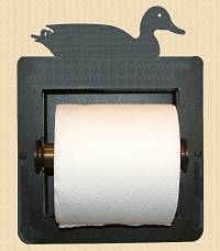 Recessed Toilet Paper Holder- Sitting Duck Design