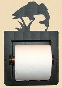 Recessed Toilet Paper Holder- Walleye Design