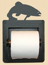 Recessed Toilet Paper Holder- Trout Design