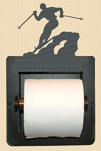 Recessed Toilet Paper Holder- Skier Design