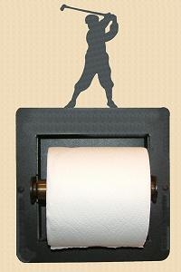 Recessed Toilet Paper Holder- Golfer Design