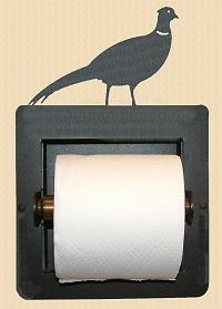 Recessed Toilet Paper Holder- Pheasant Design