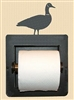 Recessed Toilet Paper Holder- Goose Design