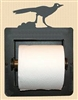 Recessed Toilet Paper Holder- Roadrunner Design