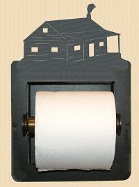 Recessed Toilet Paper Holder- Cabin Design