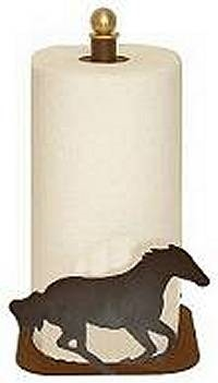 Countertop Paper Towel Holder - Galloping Horse Design