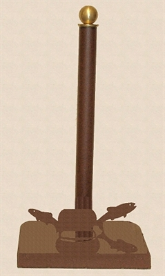 Countertop Paper Towel Holder - Fly-Rod Fish Design