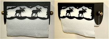 Under Cabinet Paper Towel Holder - Moose Scenery Design